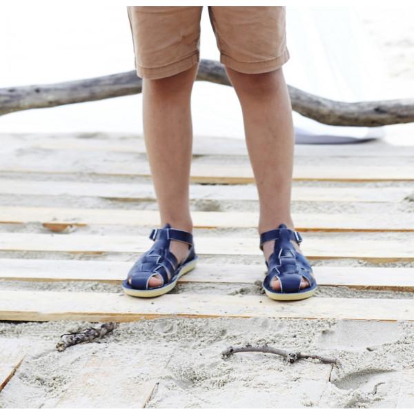 Saltwater Sun San Shark Sandals Tan