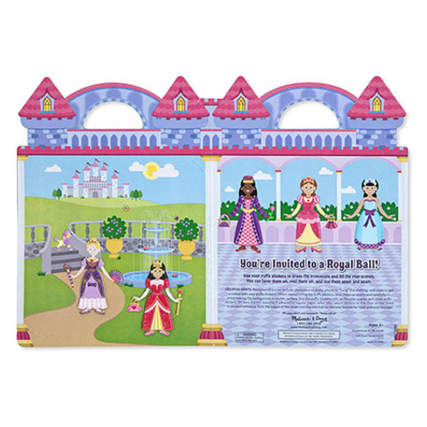 MELISSA & DOUG REUSABLE PUFFY STICKER PLAY SET PRINCESS