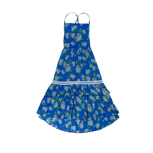 COCO & GINGER LILAC DRESS PERIWINKLE ALMOND BLOSSOM