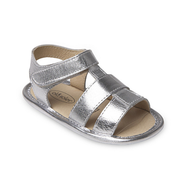 OLD SOLES HAPPY SANDAL SILVER