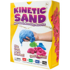 KINETIC SAND 2.5KG COLOUR COMBO RED GREEN BLUE