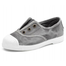 Washed Grey Natural World Made in Spain Canvas Shoe