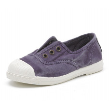 Washed Purple Natural World Made in Spain Canvas Shoe