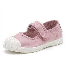 Pink Mary Jane Natural World Made in Spain Canvas Shoe