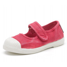 Magenta Mary Jane Natural World Made in Spain Canvas Shoe