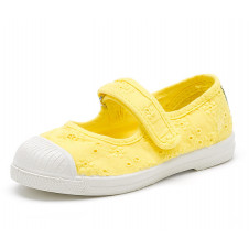 yellow Mary Jane Natural World Made in Spain Canvas Shoe