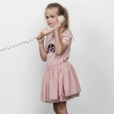 HUXBABY FLOWER FRENCHIE BALLET DRESS ROSE DUST