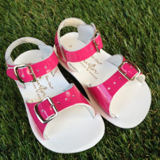 SALTWATER SUN-SAN SURFER FUSCHIA SANDALS