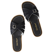 SALTWATER ADULTS CLASSIC SLIDES BLACK