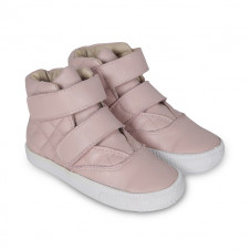 OLD SOLES POWDER PINK QUILTED SPACE HIGH TOPS