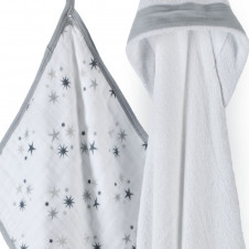 twinkle  ADEN & ANAIS HOODED TOWEL & WASHCLOTH SET