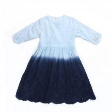 ALEX & ANT ANGEL DIP DYE DRESS BLUE
