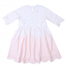 ALEX & ANT ANGEL DIP DYE DRESS PINK