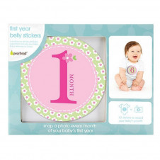 PEARHEAD PINK MILESTONES BELLY STICKERS