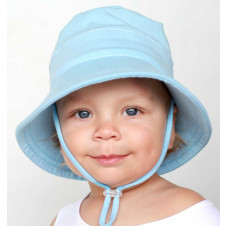 BABY BLUE BUCKET HAT WITH STRAP