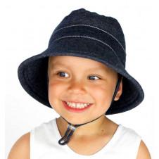 DENIM BUCKET HAT WITH STRAP
