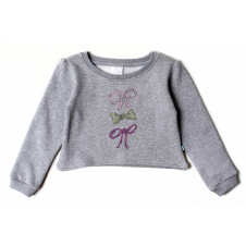 ALEX & ANT PETA BOWS CROP SWEAT