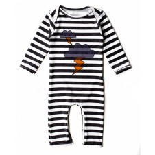 ALEX & ANT CLOUDS & THUNDER STRIPE ROMPER