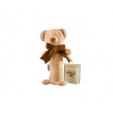 MAUD N LIL CUBBY TEDDY BEAR STICK RATTLE