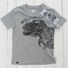 Lion of Leisure dino tshirt GREY