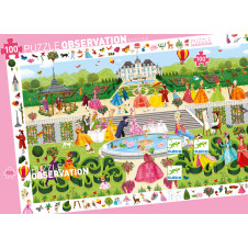DJECO GARDEN PARTY OBSERVATION PUZZLE 100PCE
