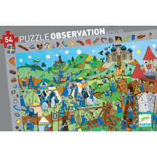 DJECO KNIGHTS OBSERVATION PUZZLE 54PCE