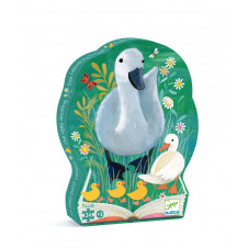 DJECO 24pc PUZZLE SILHOUETTE THE UGLY DUCKLING