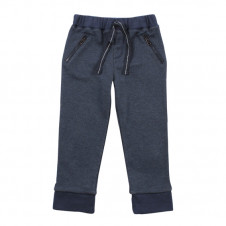 FOX & FINCH NAVY MARLE TRACK PANTS