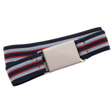 BUCKLE JR 25MM ELASTIC BELT GREY WITH WHITE STRIPE