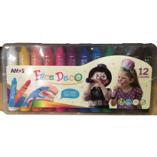 AMOS FACE DECO 12 PACK FACE PAINT
