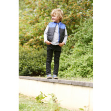 OX & FINCH BOYS BLUE YOKE VEST