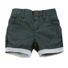 FOX & FINCH HARVARD DENIM MIX SHORT PULL ON DOUBLE WAIST