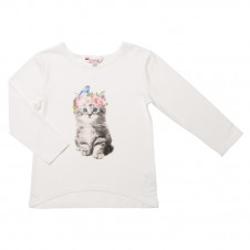 FOX AND FINCH LANA L/S KITTEN PRINT TEE