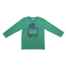 FOX & FINCH GREEN SCOTTY SPACE TEE