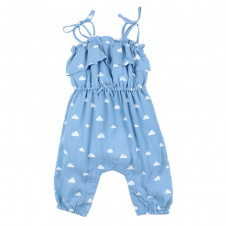 FOX AND FINCH BABY MADISON DENIM CLOUD PLAYSUIT