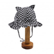 FOX AND FINCH JOLIET CHEVRON PRINT SUNHAT