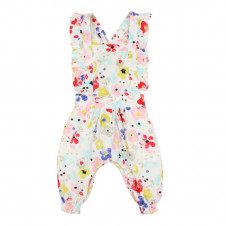 FOX & FINCH 3+ BLOSSOM FLORAL OVERALLS