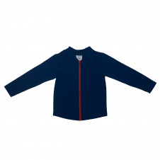 ESCARGOT CHLORINE RESIST RED & NAVY Zip Up Long Sleeve Suntop