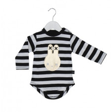 HUXBABY STRIPE & GOLD BUNNY LONG SLEEVE TOP