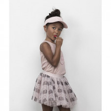 HUXBABY FRENCH SHADES TULLE SKIRT ROSE DUST