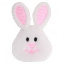 Easter Holiday Pink Bunny Pinch Clip