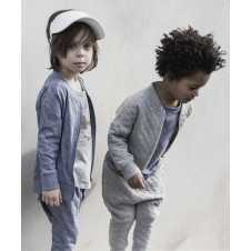 HUXBABY STITCH BALLON JACKET GREY MARLE