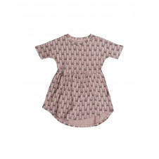 HUXBABY BUNNY SWIRL DRESS PLUM