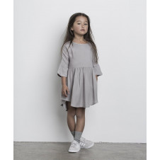 HUXBABY GREY WOVEN DRESS