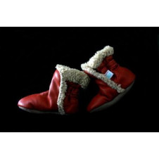 ALEX & ANT RED FUR BOOTS