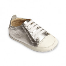 OLD SOLES EAZY TREAD SHOE SILVER WHITE