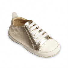 OLD SOLES EAZY TREAD SHOE GOLD WHITE