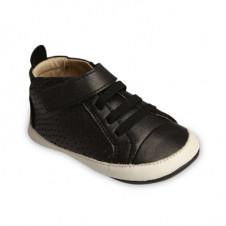 OLD SOLES CHEER BAMBINI BLACK METALLIC