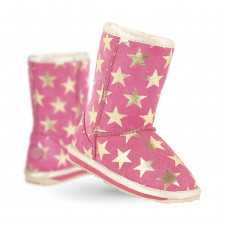 EMU KIDS PINK STARRY NIGHT MERINO WOOL BOOTS