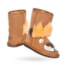 EMU KIDS LEO LION CHESTNUT MERINO WOOL BOOTS